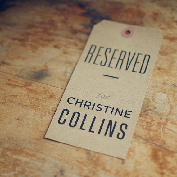 7 Kraft Reserved Seating Signs for Rustic Weddings by woodandgrain, $21.00