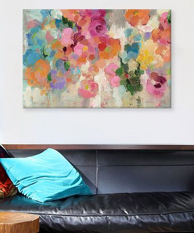 Look what I found on #zulily! Colorful Garden I Gallery-Wrapped Canvas #zulilyfinds