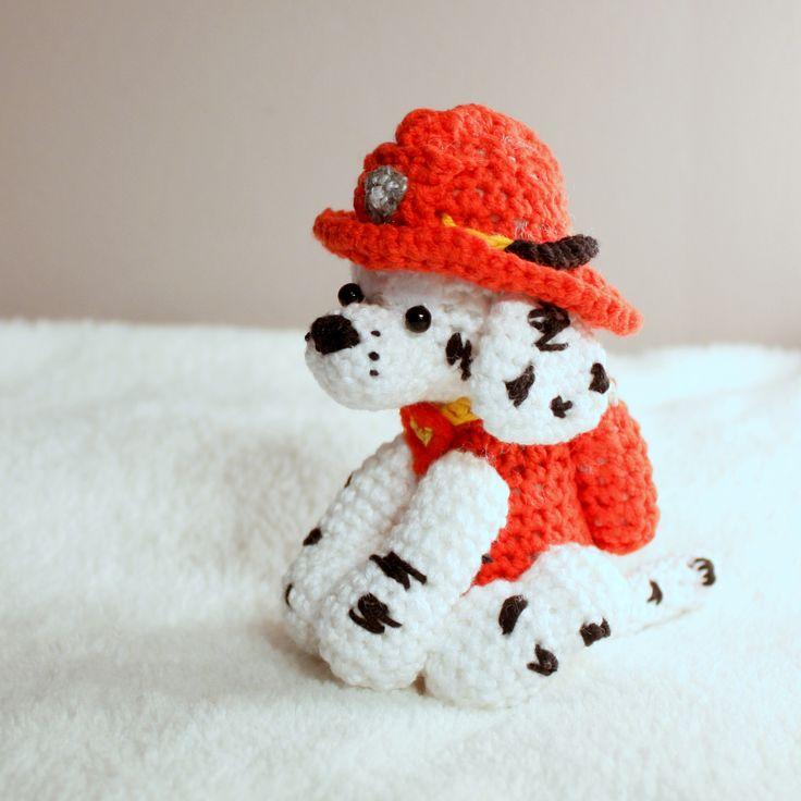Amigurumi Marshall #amigurumi #amigurumis #pawpatrol #paw #patrol #psi #patrol #psipatrol #szydełkowanie #crochet #dogs #Marshall