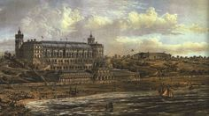Tynemouth Winter Garden as envisaged prior to construction in the 1870s. The shore-level pavilion, colonnade and promenade never materialised, (Author's collection), from The Plans That Never Happened - North Shields and Tynemouth
