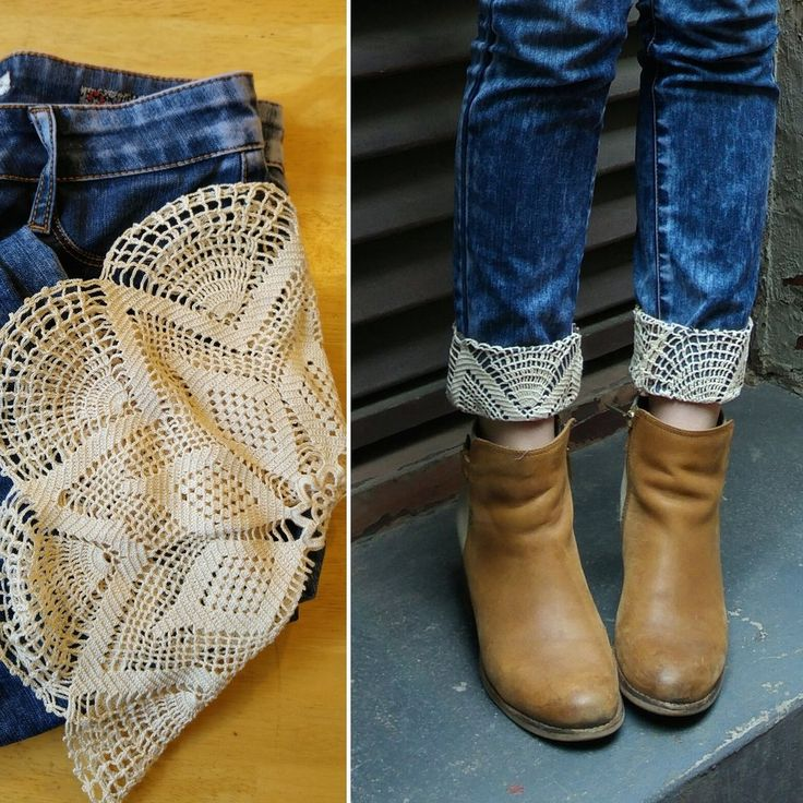 DIY – Jeans Refashion with Lace