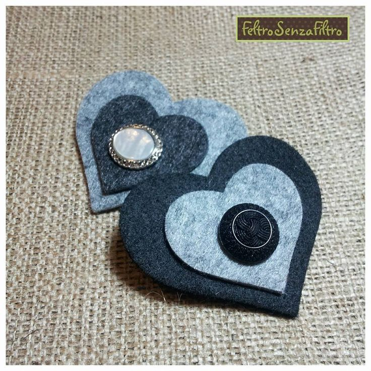 #Felt #hearts #brooches - #Spille in #Feltro a forma di #Cuore