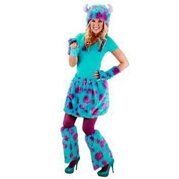 wanna be the cute monster this halloween get the monsters university sulley adult deluxe kit - Sully Halloween Costumes Monsters Inc