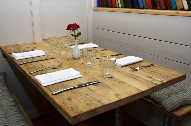 Reclaimed Scaffold Board Table Top - Paprika, Catherine Street, St Albans