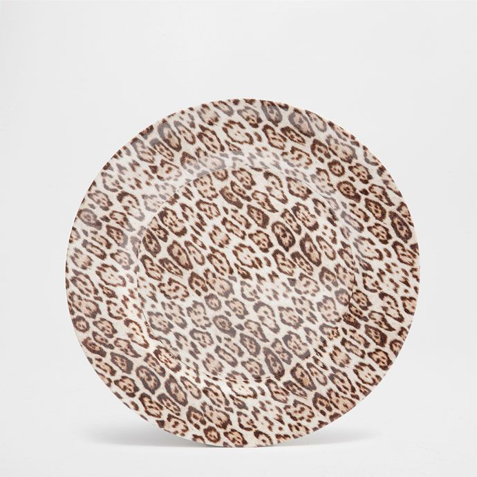 ANIMAL PRINT CHARGER PLATE   Plate Charger   Tableware | Zara Home Canada