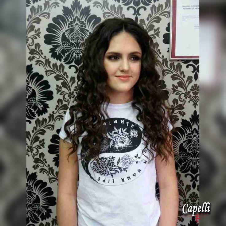 Formal hairstyle by creative director Draženka Marelja, Hair salon Capelli; formal hair for long hair curls curly hair teen hairstyle volume voluminous hair