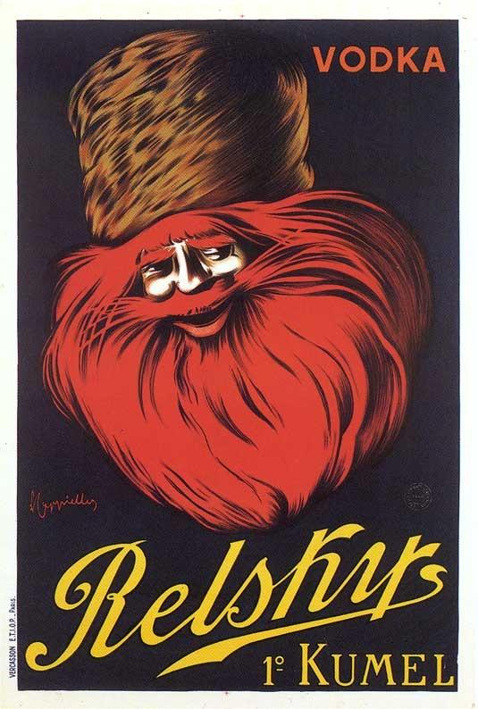 """PG155 """"Vodka Relsky"""" poster by Leonetto Cappiello (1907)"""
