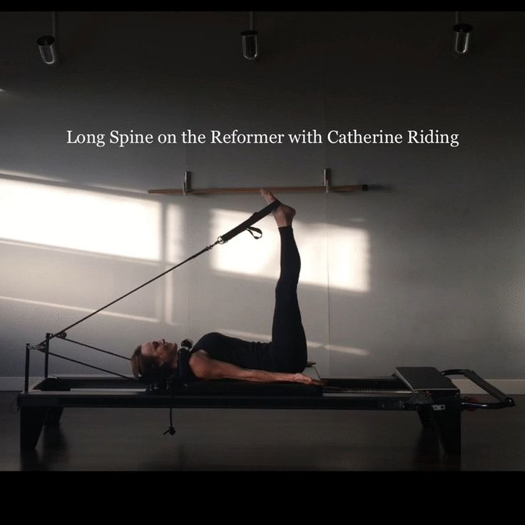 Long Spine on the Reformer with Catherine Riding at Tempo Pilates London E8 | Hackney studio.