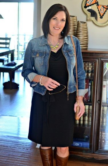 fb241d62ddca How To Wear A Denim Jacket In Your 50s 2019 | Dresses Over 50 ...
