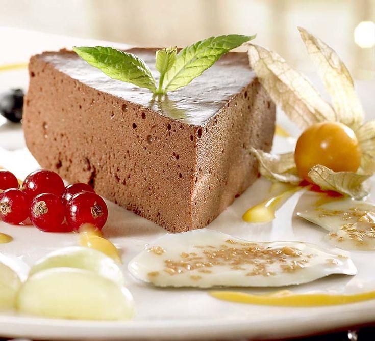 Truffeltaartje met witte chocoladekoekjes