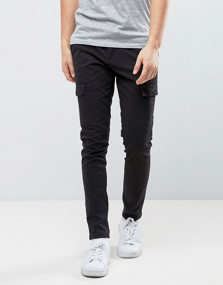 Only & Sons Slim Fit Cargo Pant - Black