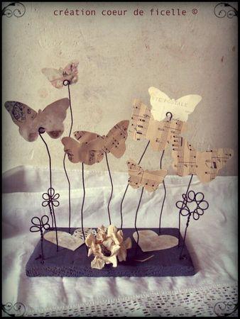 Un peu de musique et un petit fil: voilà de bien beaux papillons!