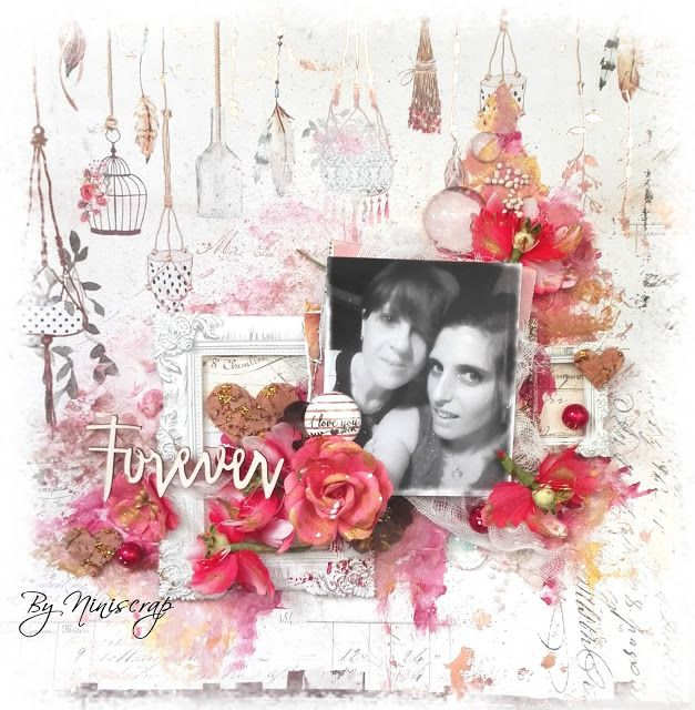 """Accent Scrapbooking: Page """"Forever"""" by Niniscrap"""