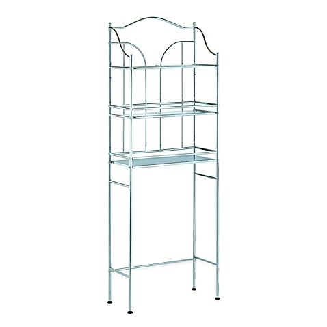 Utilize all the space you have in your bathroom with this 3-shelf metal space sa…   – My Future Apartment