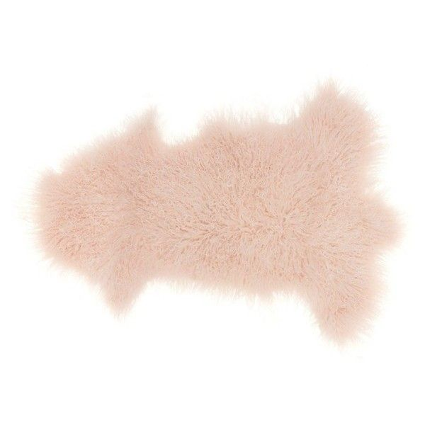 Mina Victory Genuine Sheepskin Freeform Rug (9,325 DOP) ❤ liked on Polyvore featuring home, rugs, rose, rose rug, sheep-skin rug, sheepskin area rug and sheepskin rug
