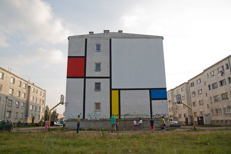 Mondrian mural blocks / Łukasiak Alice and Gregory Drozd 2