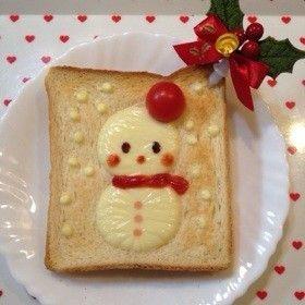 Snowman toast
