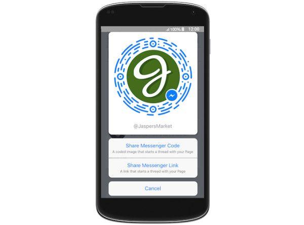 Messenger : 900 millions d'utilisateurs, lancement de noms d'utilisateurs et de codes à scanner pour trouver une marque