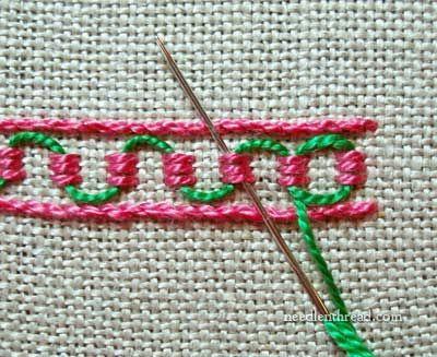 Stitch Play: Guilloche Stitch – Needle'nThread.com