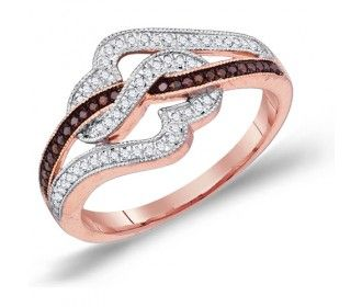 Chocolate Diamond Fashion Rings Brown Chocolate Diamond Heart