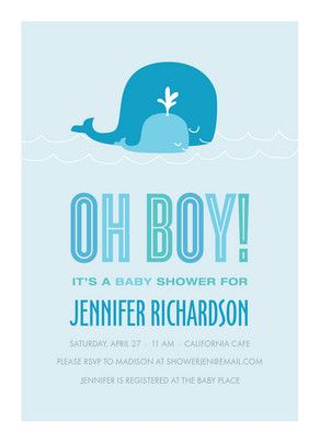 18 best boy baby shower invitations images on pinterest boy shower whale oh boy baby shower invitations filmwisefo Choice Image