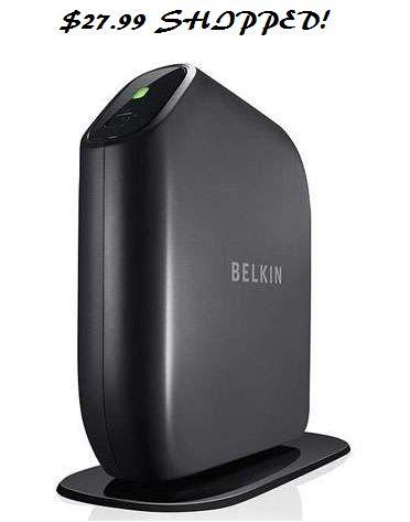 Belkin Surf N300 Wireless N Router $27.99 Shipped (Reg $59.99) #HotDeals - http://couponingforfreebies.com/belkin-surf-n300-wireless-n-router-27-99-shipped-reg-59-99/