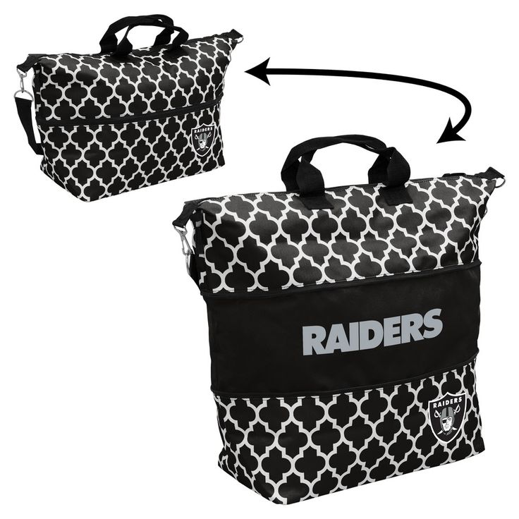 NFL Oakland Raiders Quatrefoil Expandable Cooler Tote, Women's