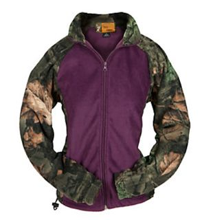 Women's Trail Crest Camo Fleece Jacket for my sons girlfriend she loves camo and purple!