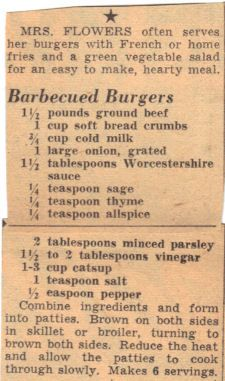 Vintage recipe - Stove top burgers