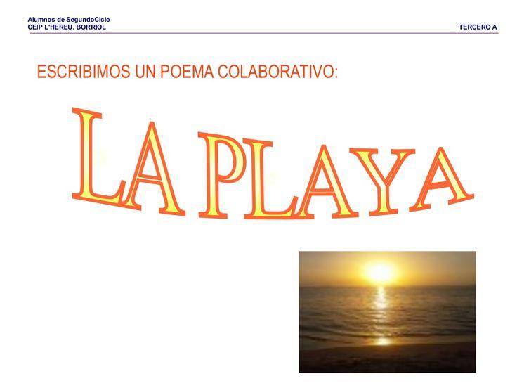 Poema la playa by Pilar Garcia Mor via slideshare