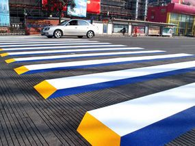 ROAD safety chiefs in China have stopped speeding drivers in their tracks with bizarre 3D road markings.