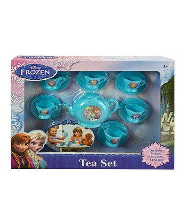 Look what I found on #zulily! 13-Piece Frozen Tea Set #zulilyfinds