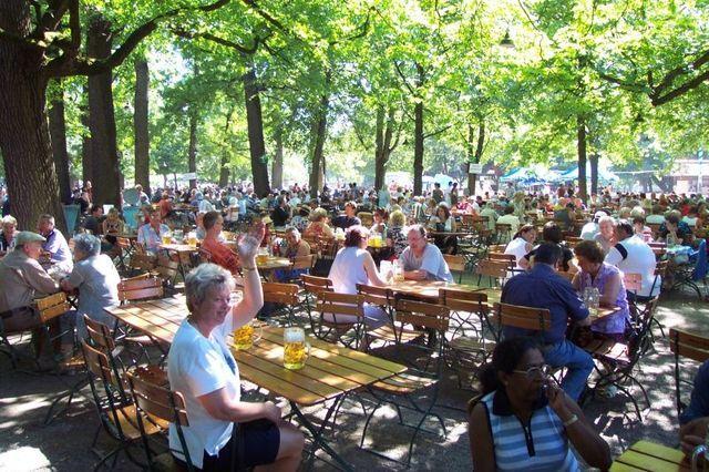 The list of Munich's best beer gardens includes beer gardens in Munich's English Garden and the largest beer garden in the world.