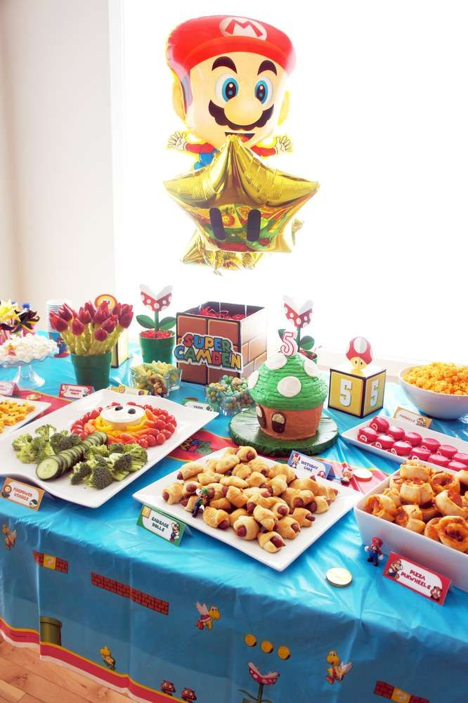 Super Mario Bros birthday party! See more party ideas at CatchMyParty.com!
