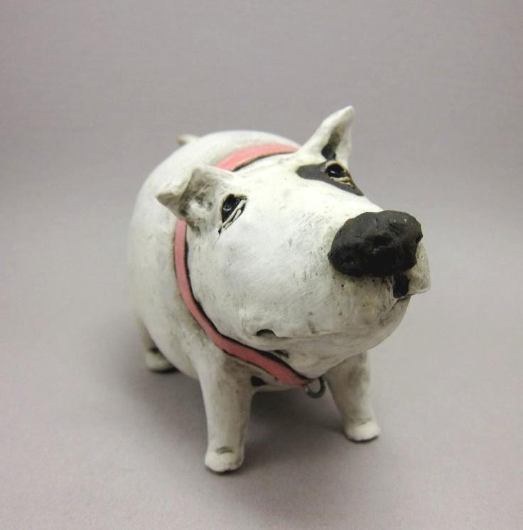 Shake That Booty, Bella - Dog Sculpture in Stoneware. Elukka