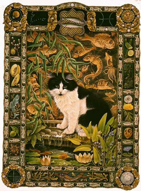 Кошачий гороскоп от Lesley Anne Ivory - Pisces cat