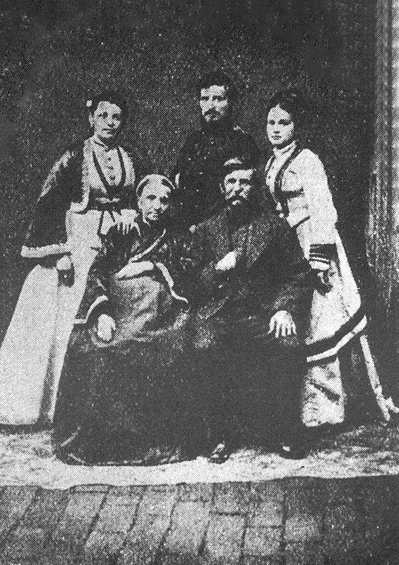 Радомир Путник са породицом.