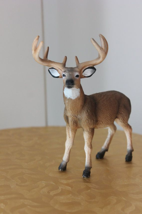 Beautiful deer figurine cake topper Great for cakes, decor, favors, decoration and more! Larger quantities available and more colors available! Also available in a set. This listing is for 1 deer.   5 height 4 length 2 width