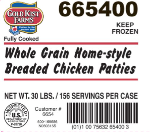 Pilgrim's Pride Corporation Recalls Ready-to-Eat Chicken Products