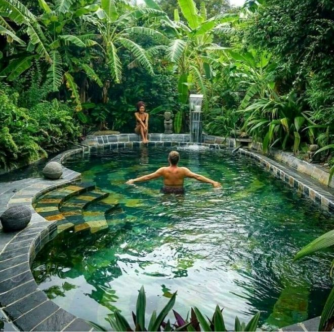 28 Refreshing Tropical Landscaping Ideas Tropical Pool Landscaping Pool Landscaping Backyard Pool Landscaping