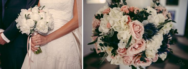 The bouquet and the floral compositions with wild roses, peonies and wild flowers!