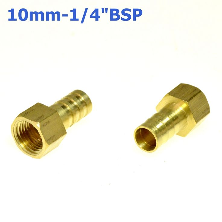 """3Pcs 10mm Hose Barb Tail To 1/4""""PT BSP Female Thread Straight Barbed Brass Connector Joint Copper Pipe Fitting Coupler Adapter  EUR 3.67  Meer informatie  http://naaar.nl/2cSGDXd #aliexpress"""