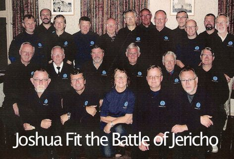 Joshua Fit the Battle of Jericho.  Mandskoret av 1914 sammen med Bytunets Antikvariske Jazzensemble, i et arrangement av R. Verne. Hør mer på YouTube  https://www.youtube.com/watch?v=zFEcZ6oXof0&feature=youtu.be