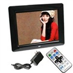 8  LCD Wide Screen 16M USB Digital Photo Picture Frame MP3 Movie Player w/ Remote Control MMS/ SD/ MS Supported Black