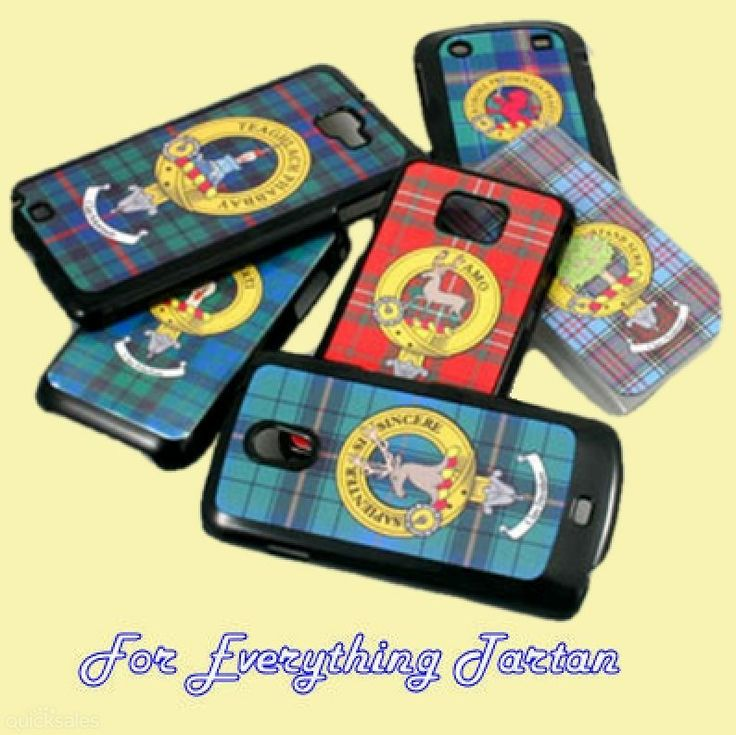 Clan Crest Tartan Badge White Samsung Galaxy S Cover Clan Badge Crest Cover by JMB7339 - $25.00