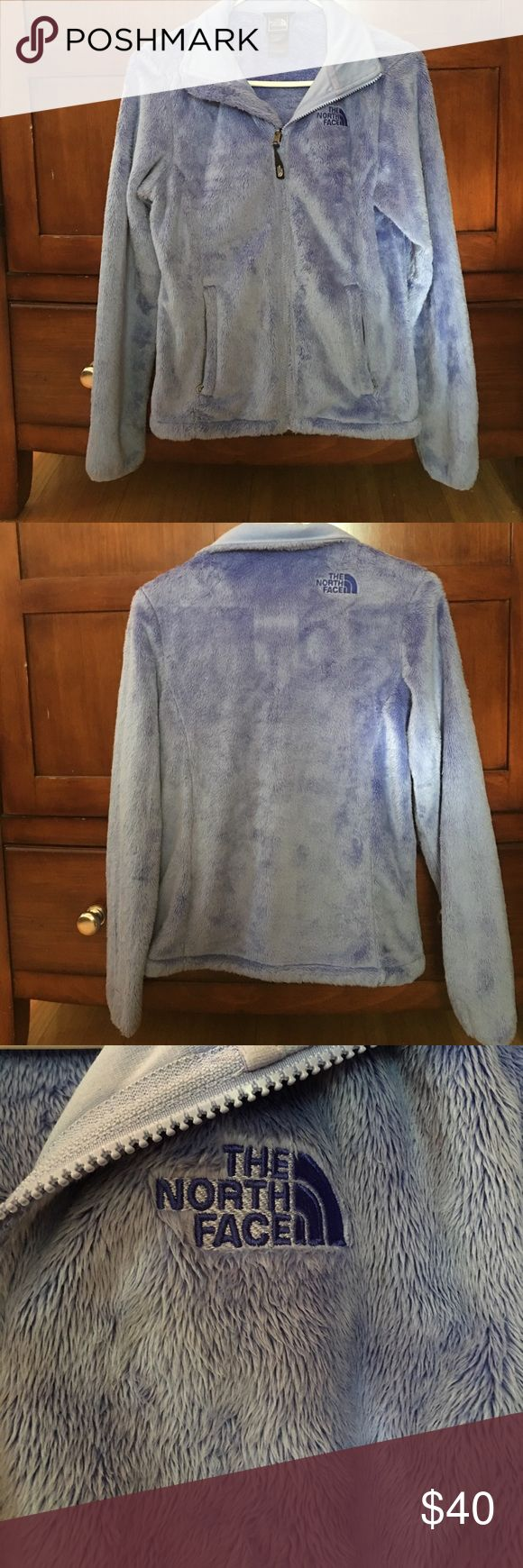 North Face Fleece Jacket In very good condition. Very soft, worn minimally. Light purple color! Full zip. Adjustable waist The North Face Jackets & Coats