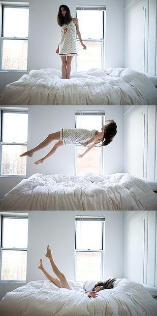 jumping on the bed is the first thing I do n every hotel room, yep hubby's thinks I'm crazy