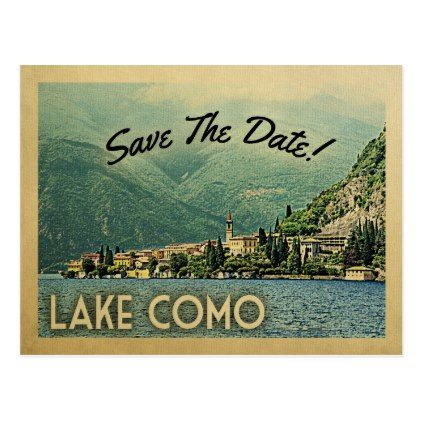 Lake Como Save The Date Menaggio Italy Postcard - vintage wedding gifts ideas personalize diy unique style