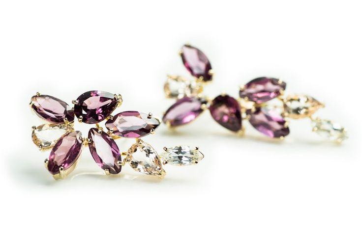 Berry Kiss earrings By Laura Darth