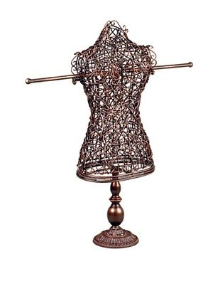 Wicker Tabletop Dress Form Stand